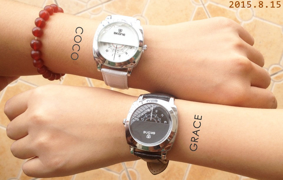 2016 Hot! Casual SKONE Genuine Men & Women Brand Wristwatches
