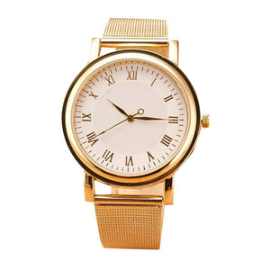 Lady Womens Wristwatches Gold Stainless Steel