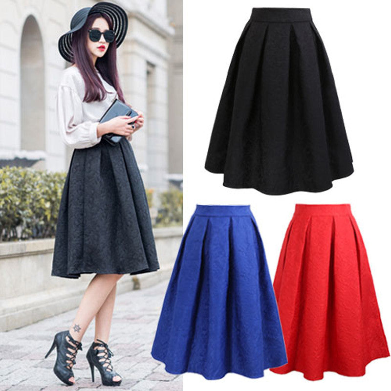 Vintage Women Skirt New Fashion 2016 Autumn Winter