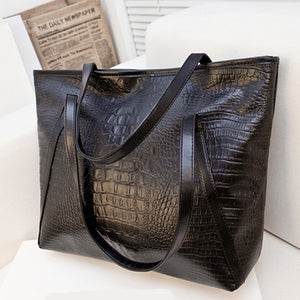Black Casual Women Shoulder Bags PU Leather Female Big Tote Bags for Ladies Handbag Large Capacity sac a main femme de marque
