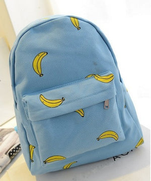 Cute Girl Banana Pattern Printing Women Backpacks
