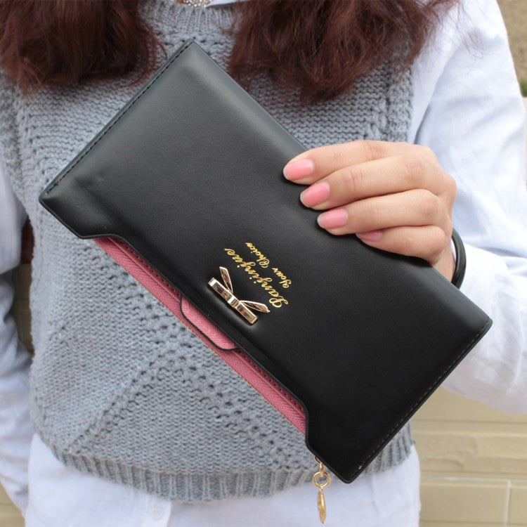 10 Colors Fashion Bow Knot Long Women Wallets - Gifts Leads
