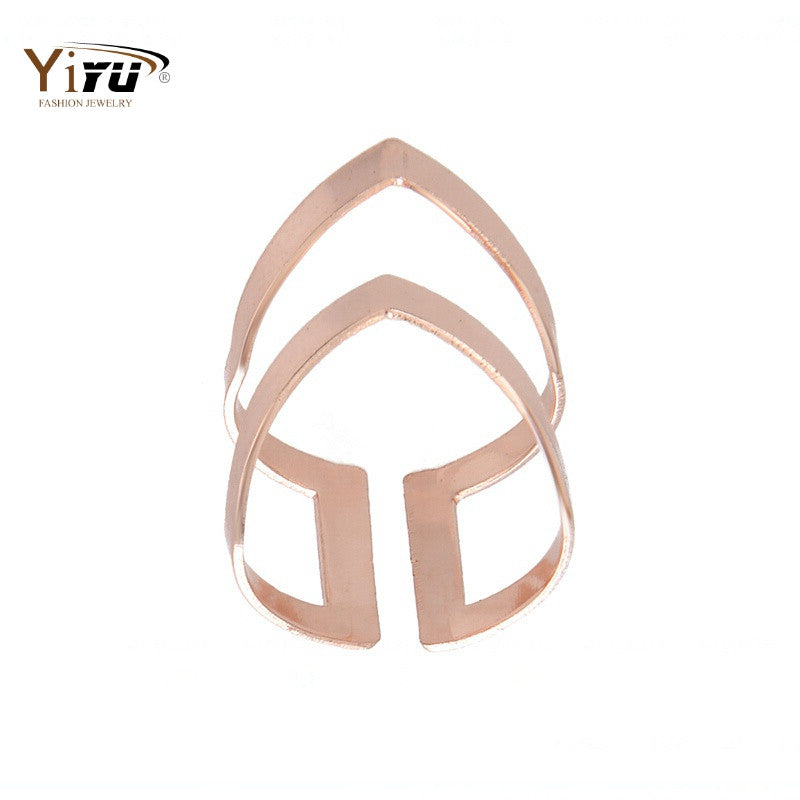 Rings For Women Gold&Pink&Silver Plated Ring Cool Aggressive