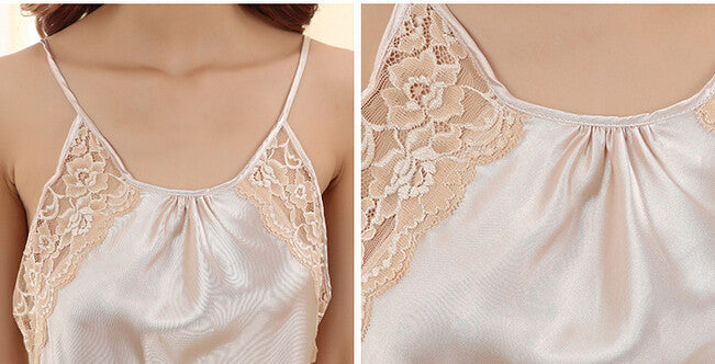 Women 2016 Sexy Lace Silk Suspenders Silk Summer
