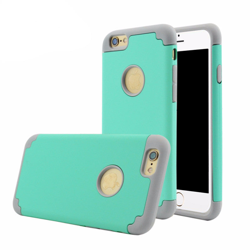Brand Shockproof 2 in 1 Silicon + PC Cover Mobile Phone Accessories