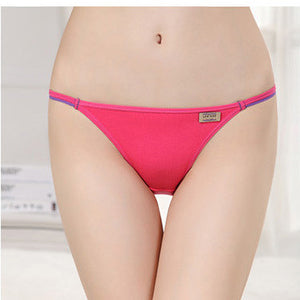 2016 New Hot Sex Women T-back Modal Super Low Rise Panties