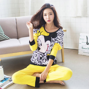 2016 Spring Autumn Women's  Long Sleeve Pajama Sets