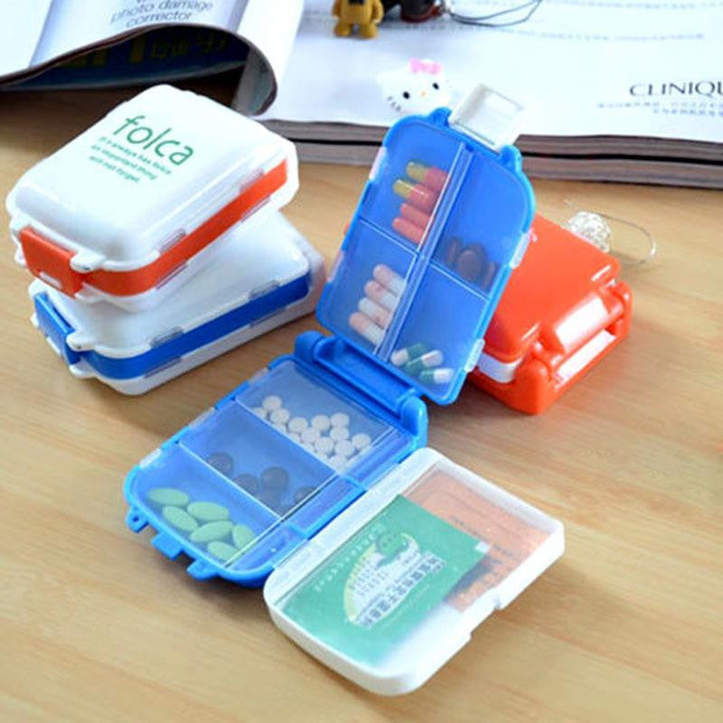 1 PCs Folding Vitamin Medicine Drug Pill Box Makeup Storage Case Container Free Shipping - Gifts Leads