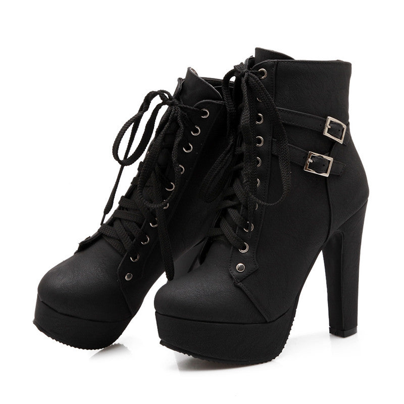 High Quality Fashion Autumn Winter Women Ankle Boots flats