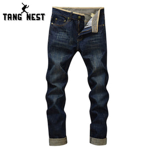 New Arrival 2016 Fashion Man's Jeans Comfortable Straight Zipper