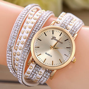 Geneva Fashion Casual Clock Female Relogio Luxury Quartz