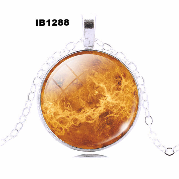 Glass cabochon necklace pendant necklace art picture antique Bronze silver chain necklace women necklace jewelry fashion  2016