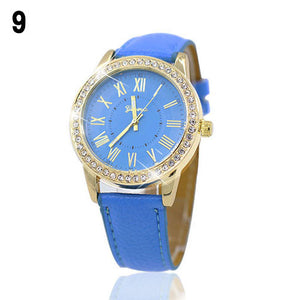 New Hot Womens Golden Rhinestone