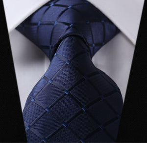 100%Silk Wedding Jacquard Woven Classic Men Tie Necktie - Gifts Leads