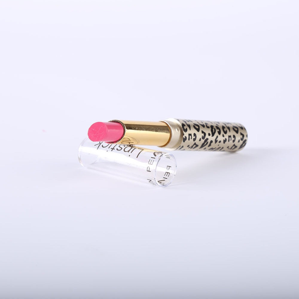 12Pcs/set Leopard Long Lasting Lipstick Moisturize Bright Nude Lip Gloss Pencil Balm - Gifts Leads