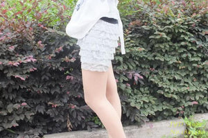 Fashion Nice Safety 8 Layers Lace Shorts Trousers New Hot