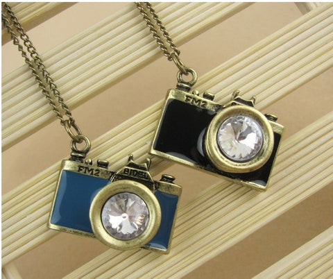 Fashion  vintage  camera necklace new wholesale charms TJ-3.99 abc
