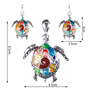 Fashion Jewelry Sets Hight Quality Necklace Sets For Women Jewelry Silver Plated Sea Turtle Unique Design Party Gifts
