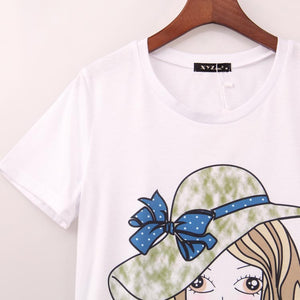 2016 Cute Kawaii T Shirt Women Cartoon Girl printed printing t-shirt summer new fashion sweet women tees tops woman Sakura - Gifts Leads