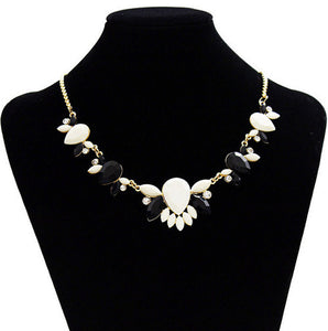 New 2016 Maxi Necklace Women Resin Flower Collares Gold Chain Choker Statement Necklaces & Pendants Jewelry Bijoux Joyeria