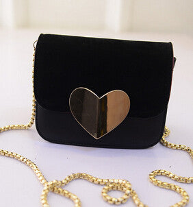 Vogue Star!evening bag Peach Heart bag women pu leather handbag Chain Shoulder Bag messenger bag fashion women clutches