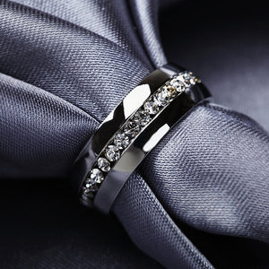2016 Classic zircon Australia Crystal Stainless Steel Rings Fashion Jewelry - Gifts Leads