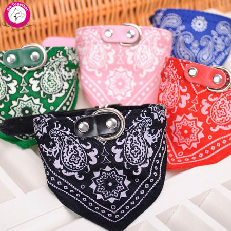 1Pc Lovely Pet Dog Scarf Collar Adjustable Puppy Bandana Quality Pet Cat Tie Collar - Gifts Leads