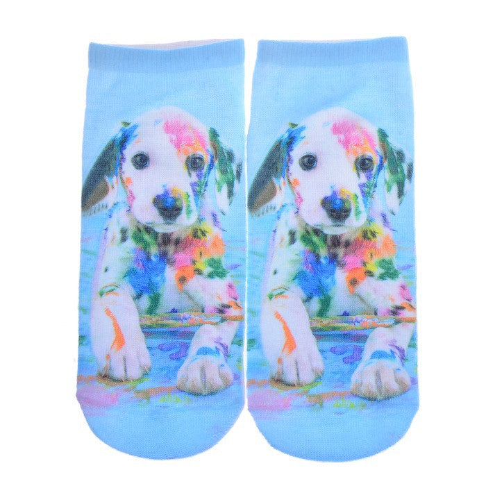 3D Printed Socks Women New Unisex Cute Low Cut Ankle Socks