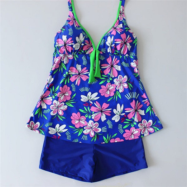 2016 Fashion Hotsale New Design Floral Print Slimming Swimwear Bikini Set Swim Suits Lady Women Two Piece Swimsuit Plus 5XL Size