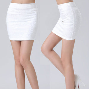 1 pcs Women New Stretch Ladies Wiggle Pencil Tube Plain Office Lace Skirt - Gifts Leads