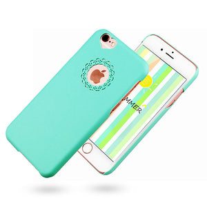Cute candy Color Loving Heart Flower Lace Hard Phone Case