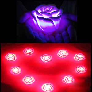 LED Romantic Rose Flower Color changed Lamp  LED night lights Free Shipping