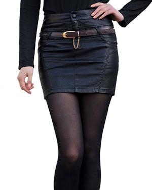 Skirts Womens Natural Rushed New 2016 Pu Leather Plus