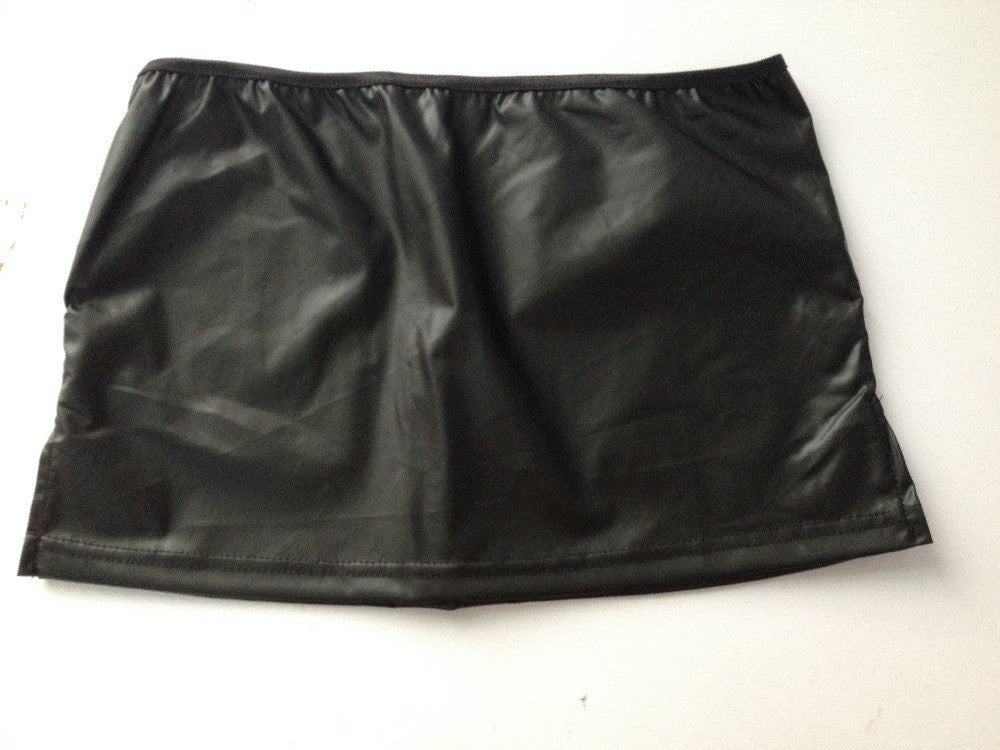 2016 Ladies Patent Leather Black Mini Skirt Wrapped