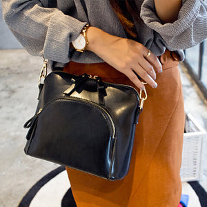 High Quality  PU Leather Messenger Bag Women Crossbody Bag Double Zipper Shoulder Bag Small Fashion Women Bags