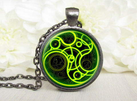 Steampunk handmade movie bomb doctor who Necklace 1pcs/lot bronze or silver Glass Pendant jewelry