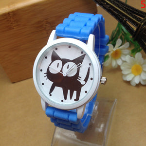 Fashion Geneva Cute Cat Cartoon Casual Quartz Watch