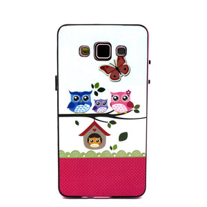 2 IN 1 Cute Cartoon OWL Dream Elepants Flower Soft Silicon