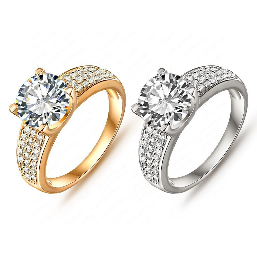 New Arrival Simple Style Finger Ring 18K Gold/Platinum Plate