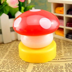 Mushroom Shaped LED Novelty Lamp Night Light Colorful Changing Colors Nightlight Lamp Flashing Toy