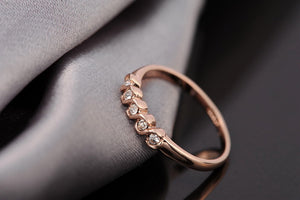 Italina Rigant 18K Rose Gold Plated Simply Style Rings