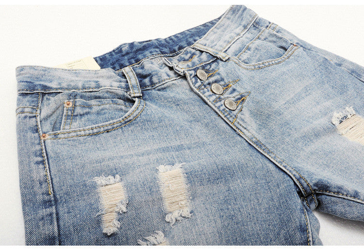 2016 New Fashion Summer Style Women Jeans ripped Holes