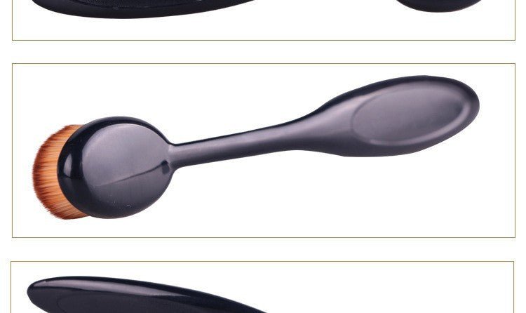 1Pc Power Makeup Brush Beauty Oval Cream Puff CosmeticToothbrush-shaped Foundation Blushing Brush Blend Tools Kit  Cream Powder - Gifts Leads