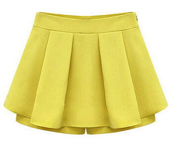 2016 Woman shorts Summer Ladies Pleated flounced Shorts Casual Trousers Culottes Short Pants women