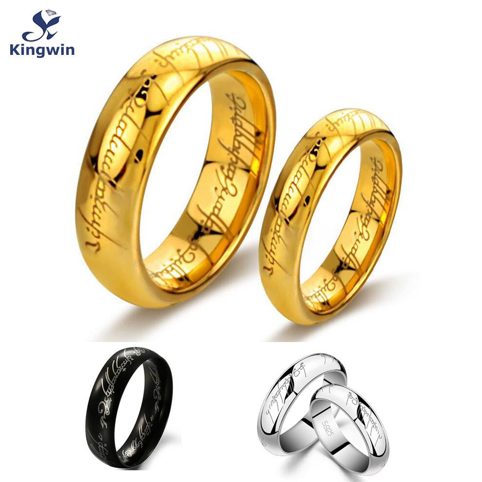 The Tungsten Carbide One Ring of Power Gold / Silver / Black optional, the Lord of ring sizes optional for women or men jewelry