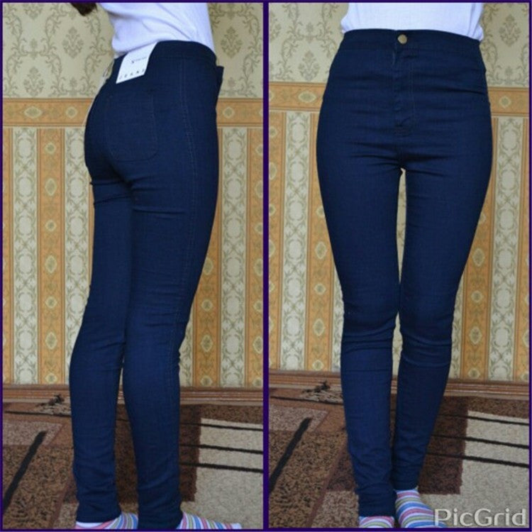 2016 new fashion skinny jeans women high waist