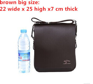 New Kangaroo design leather men Shoulder bags
