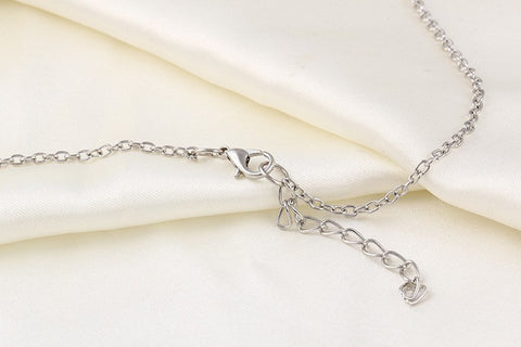 Korean fashion trend wild forest-based metal leaf pendant necklace clavicle short section of double-leaf jewelry