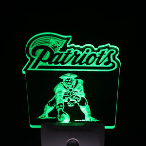 New England Patriots Soccer Day/ Night Sensor Led Night Light Sign