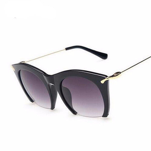 Brand half rim Sunglasses CAT EYE Sun shades lenses Half frame